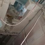 ניסור בטון בפיר מעלית כאשר למרות שהיה קושי טכני מבחינת נגישות.