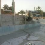 ניסור בטון בפארק מים ידוע לצורך שיפוץ וחידוש.